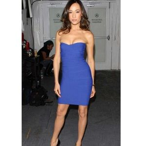 Hervé Leger Strapless Bandage Dress